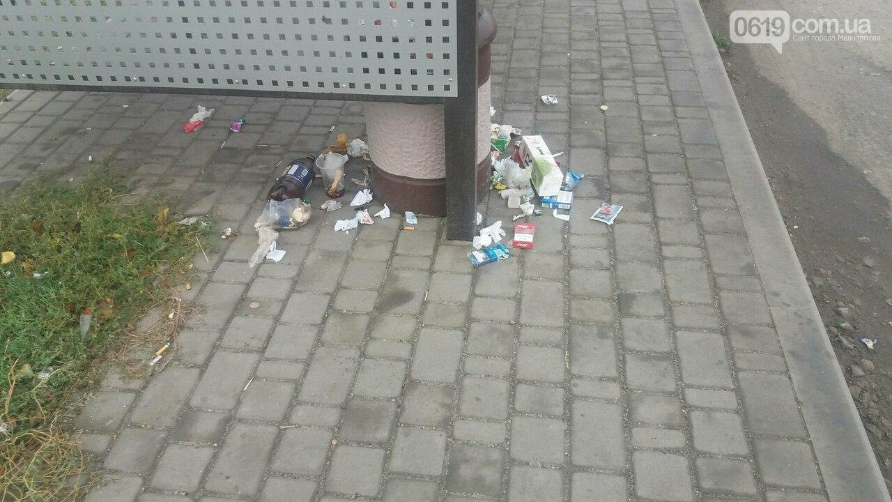Остановка завалена мусором, фото-2, Фото сайта 0619