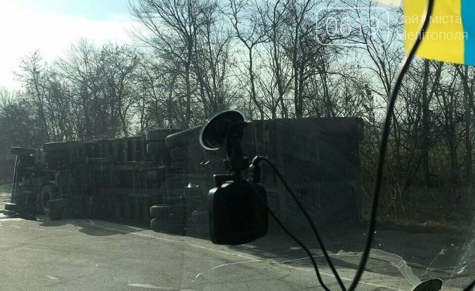 "На трассе перевернулся МАЗ ""Мелавтотранса"", - ФОТО, фото-4, Фото сайта 0619"