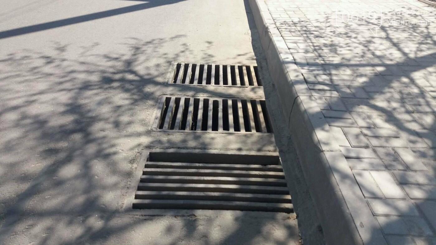 В Мелитополе неправильно установили ливневые решетки, фото-1