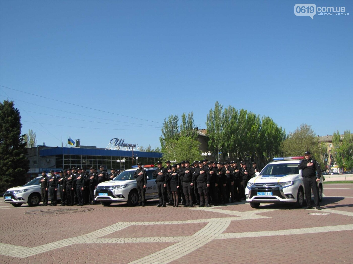 Мелитопольской полиции торжественно вручили новые служебные автомобили, фото-6