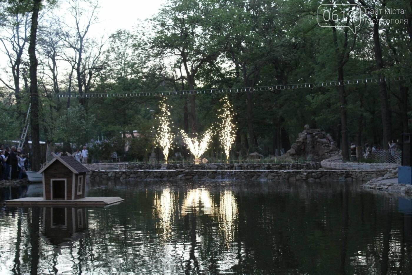 На торжественное открытие пруда в мелитопольском парке собрались сотни горожан, фото-4