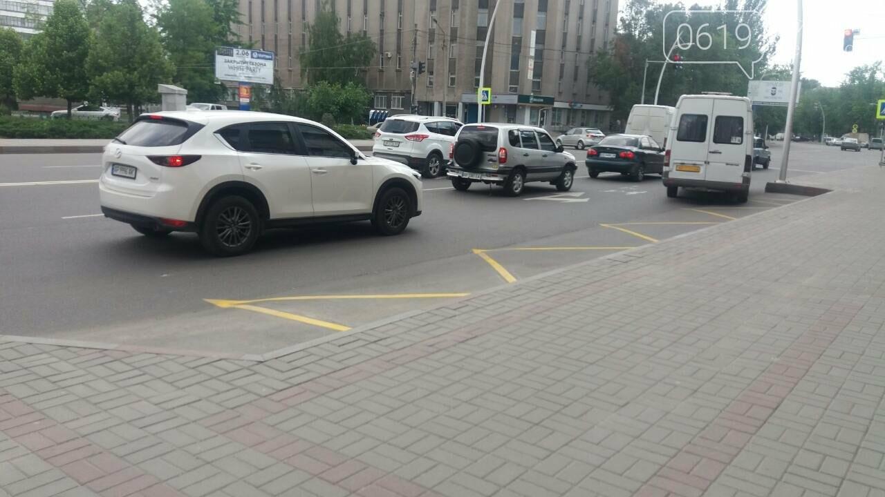 В Мелитополе на дорогах появилась новая разметка, фото-1