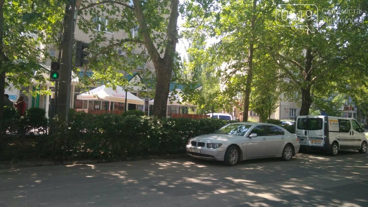 В Мелитополе автохамы массово паркуются в неположенном месте , фото-4
