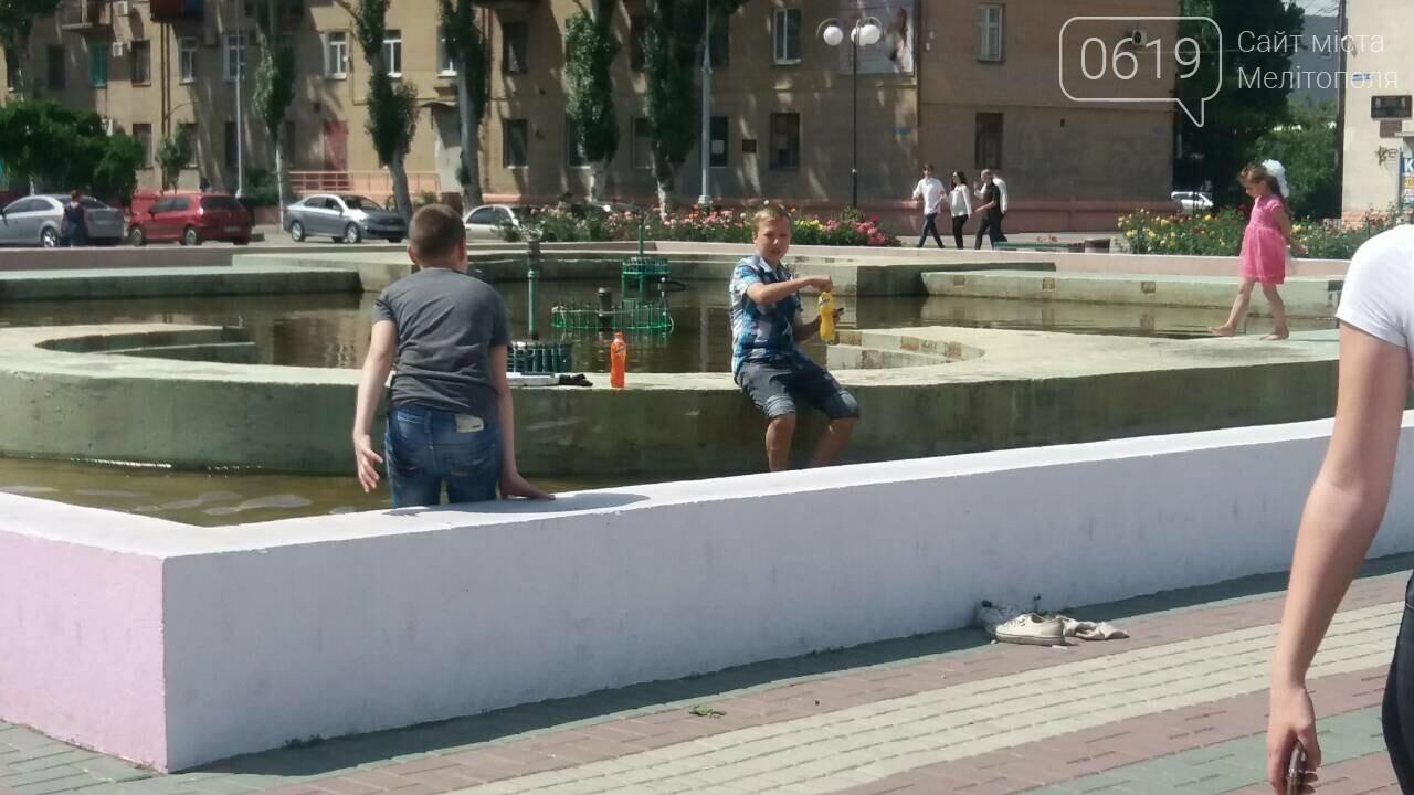 """Мелитопольцы устроили """"водные процедуры"""" в городском фонтане , фото-2"""