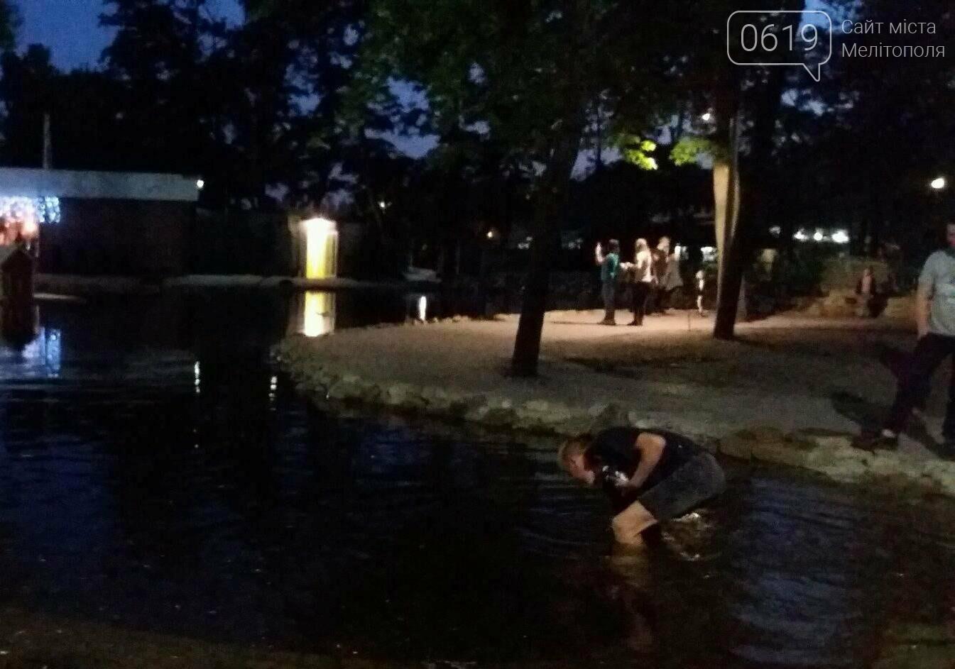 В Мелитополе подростки залезли в пруд ради денег, фото-2, Фото сайта 0619