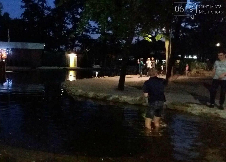 В Мелитополе подростки залезли в пруд ради денег, фото-3, Фото сайта 0619