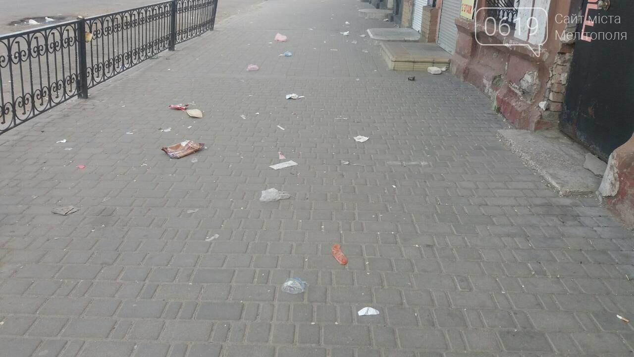 Мелитопольцы жалуются на мусор на центральном рынке, фото-1