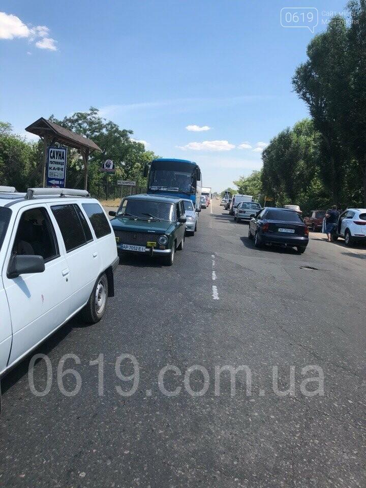 """Под Мелитополем на """"курортной"""" трассе образовалась огромная пробка, - ФОТО, фото-5"""