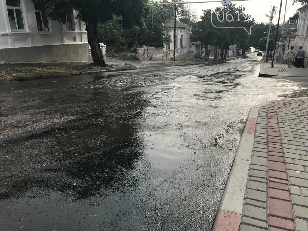 В Мелитополе одну из улиц затопило водой, фото-7