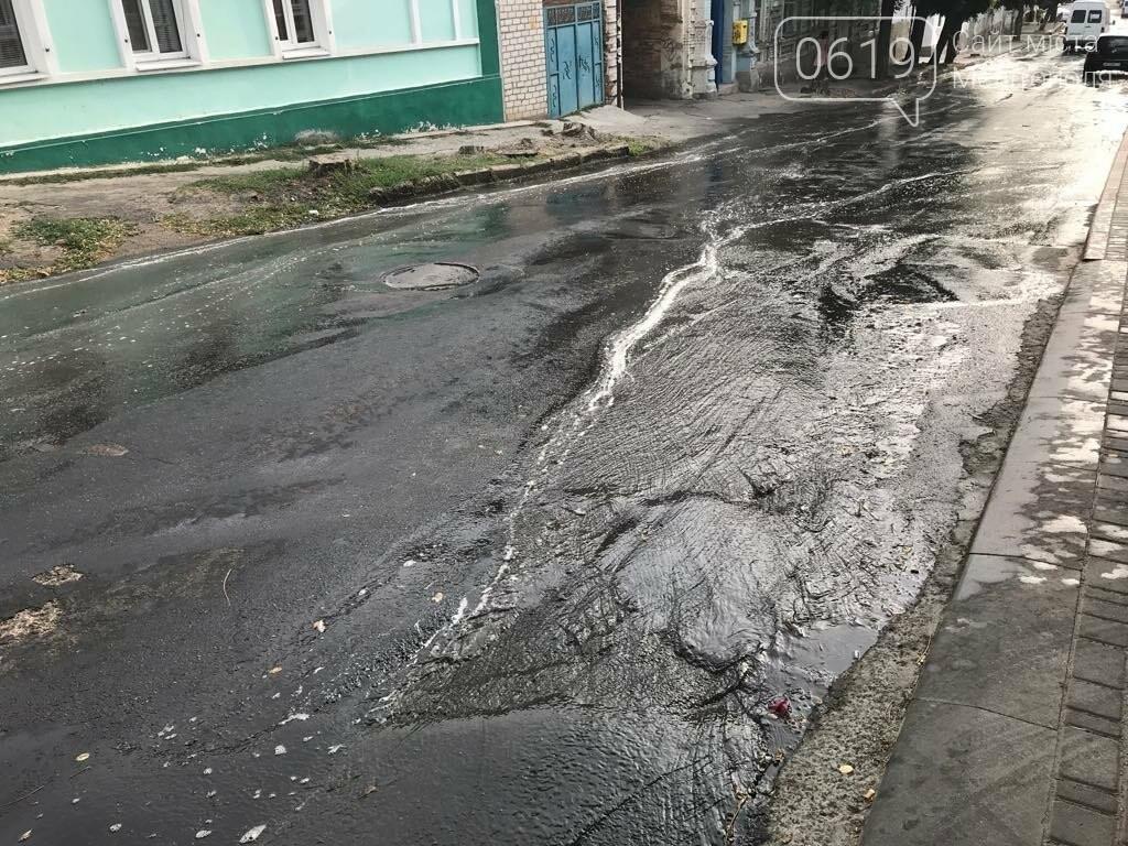 В Мелитополе одну из улиц затопило водой, фото-2