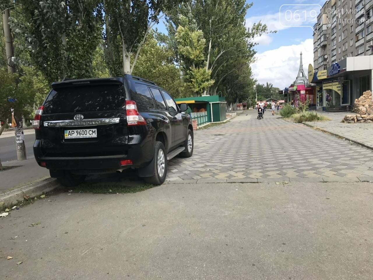 В Мелитополе запечатлели очередного автохама , фото-1