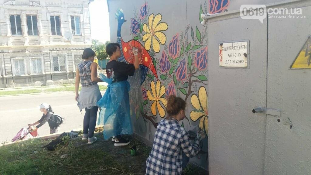 Мелитопольские студенты превратили трансформаторную будку в арт-объект, фото-2