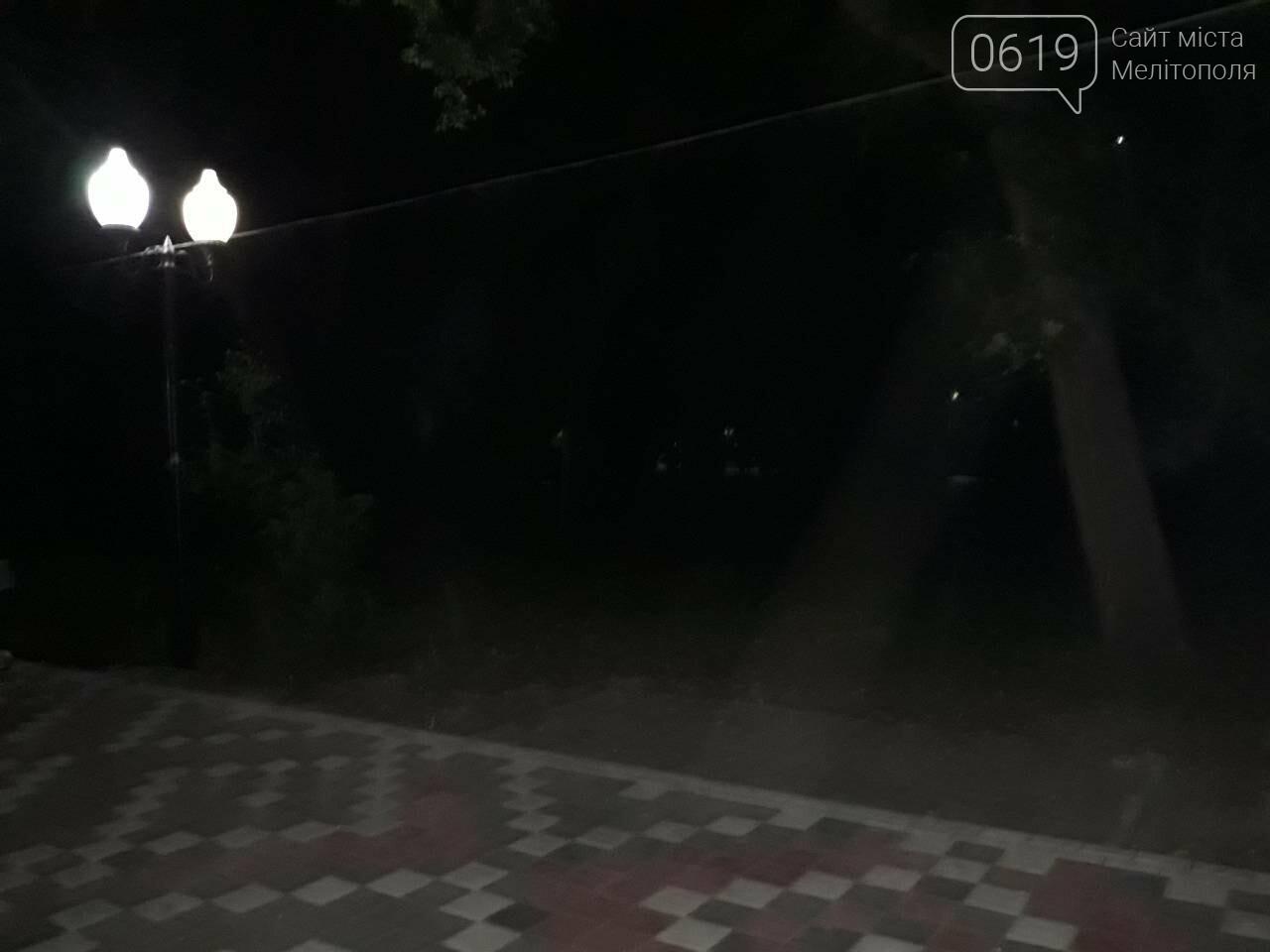В мелитопольском парке исчезла лавочка, фото-1