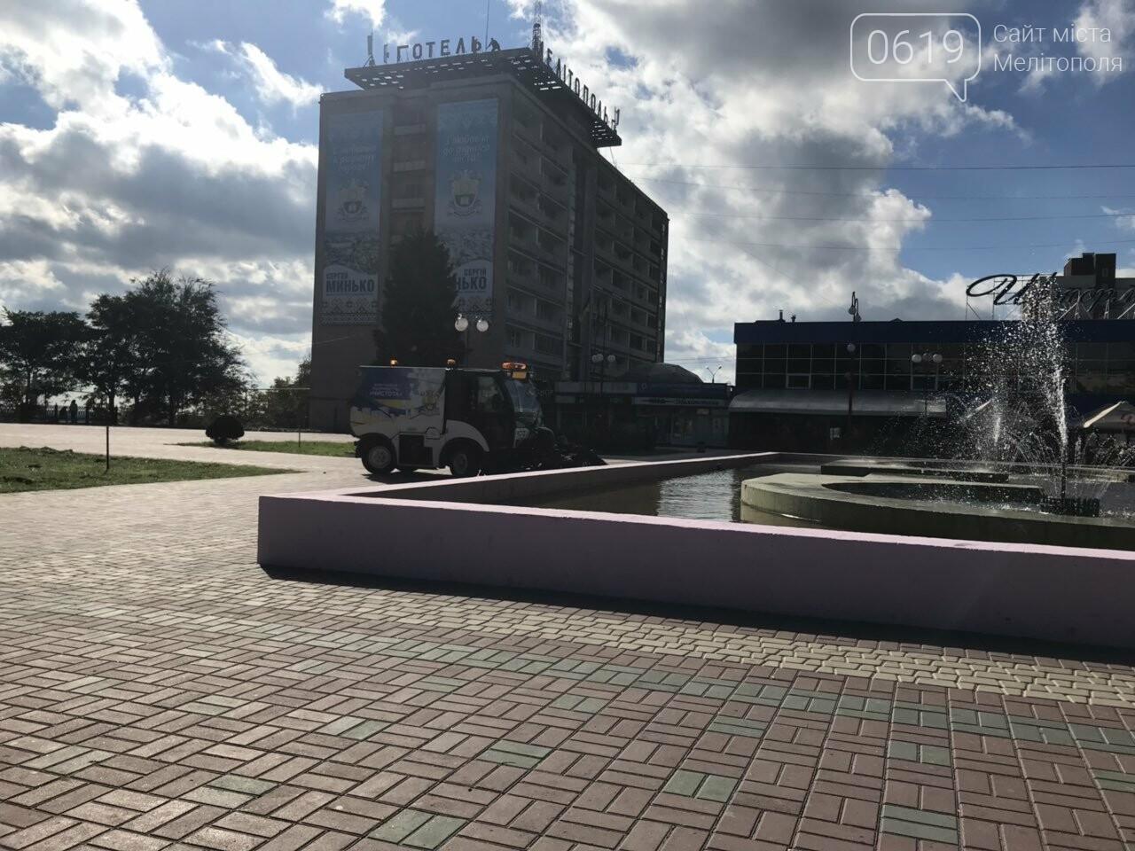 Главную площадь Мелитополя готовят к празднику , фото-2
