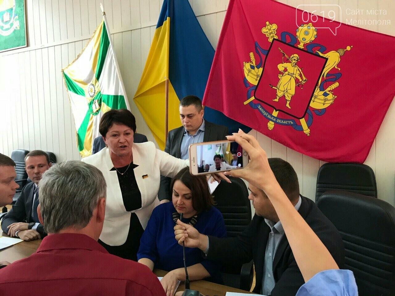 Рупор вместо микрофона: лидер оппоблока устоила акцию протеста и сорвала сессию горсовета, фото-4