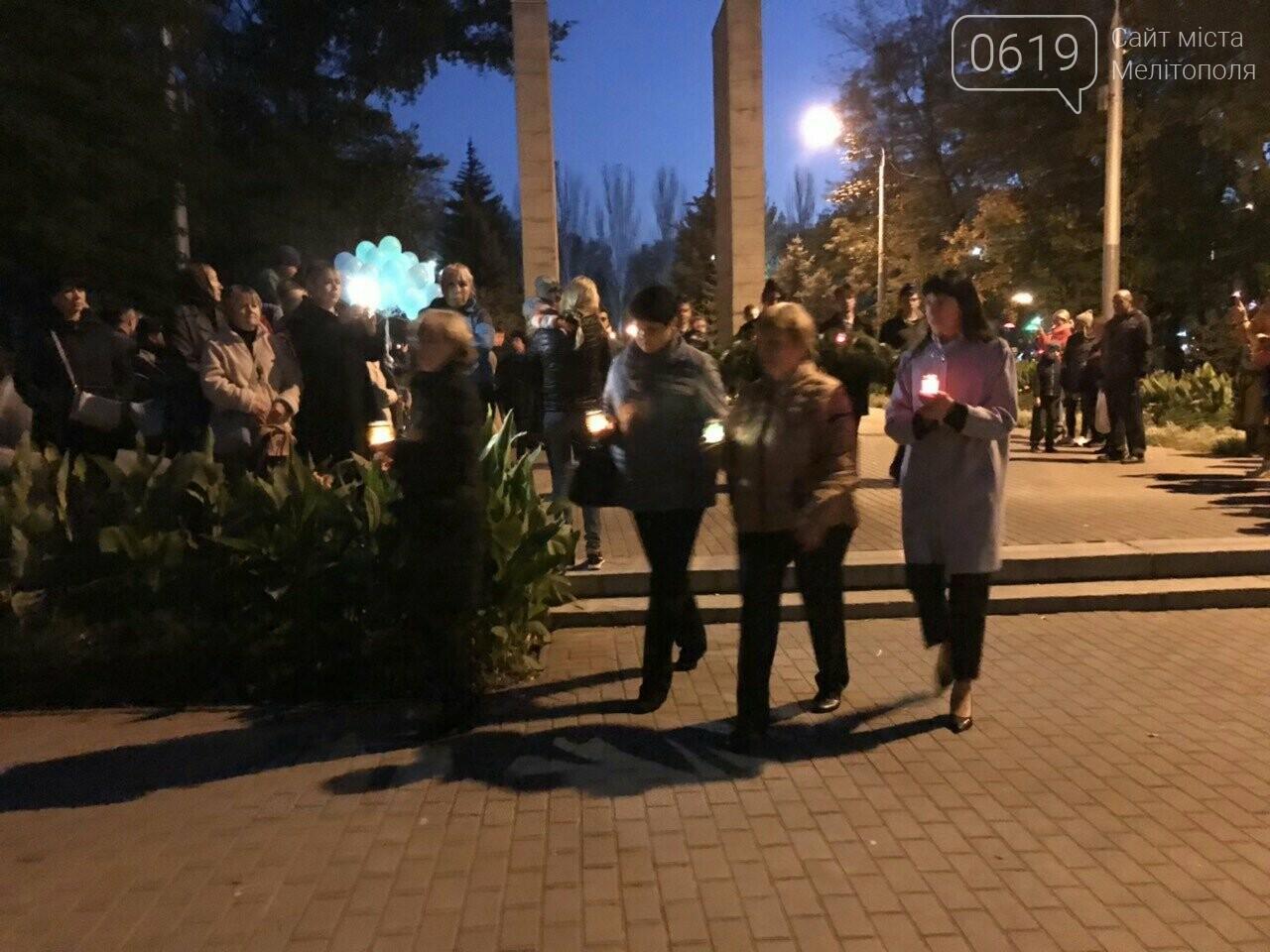 В Мелитополе День освобождения завершили традиционным факельным шествием, фото-7