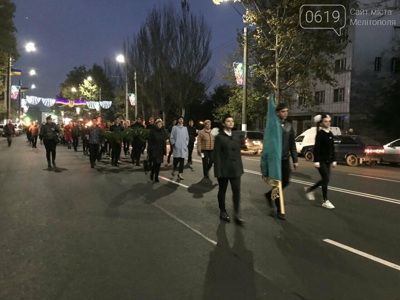 В Мелитополе День освобождения завершили традиционным факельным шествием, фото-8