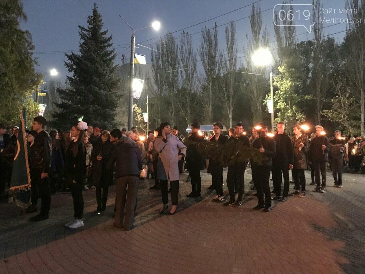 В Мелитополе День освобождения завершили традиционным факельным шествием, фото-5