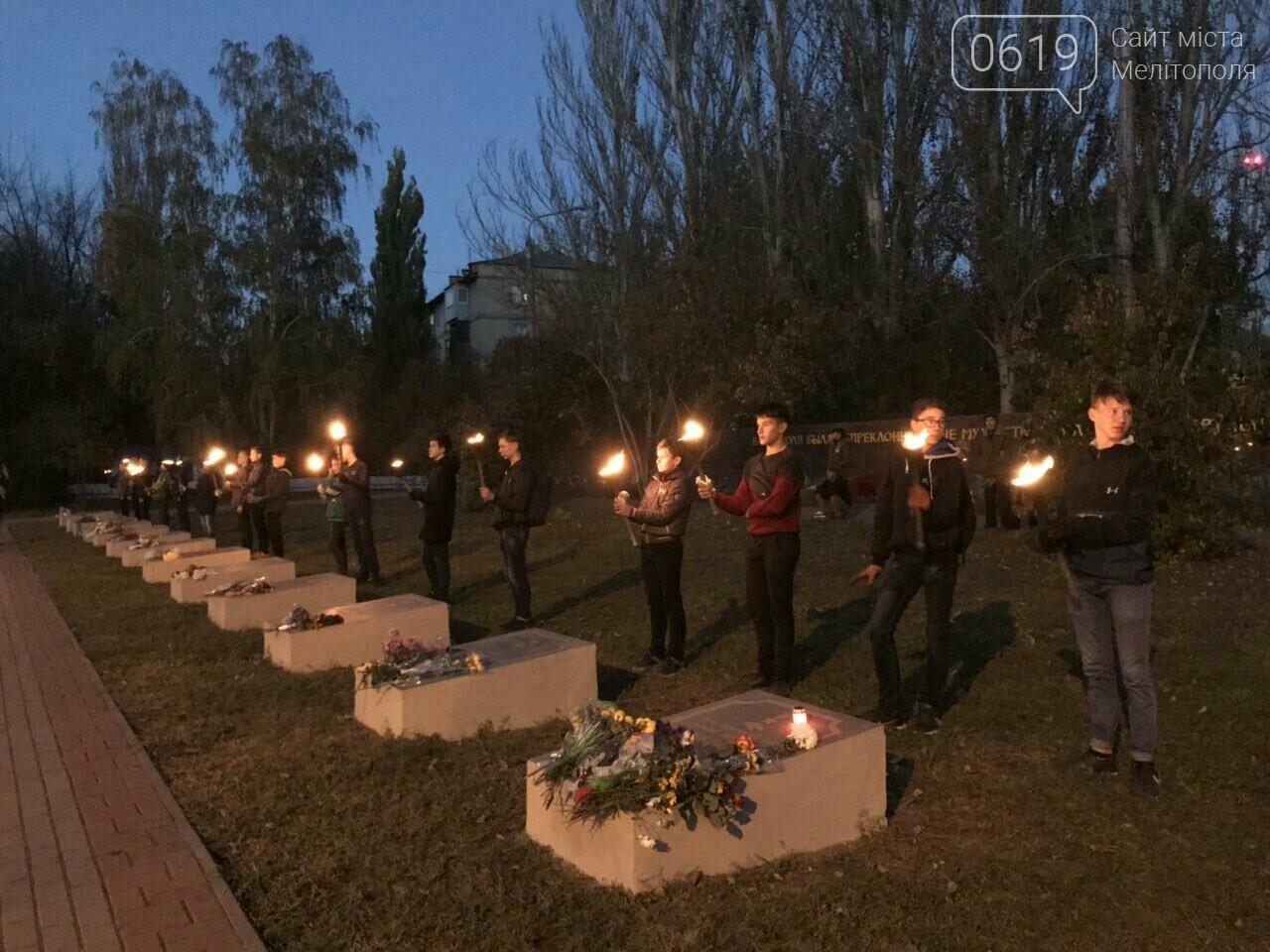 В Мелитополе День освобождения завершили традиционным факельным шествием, фото-14