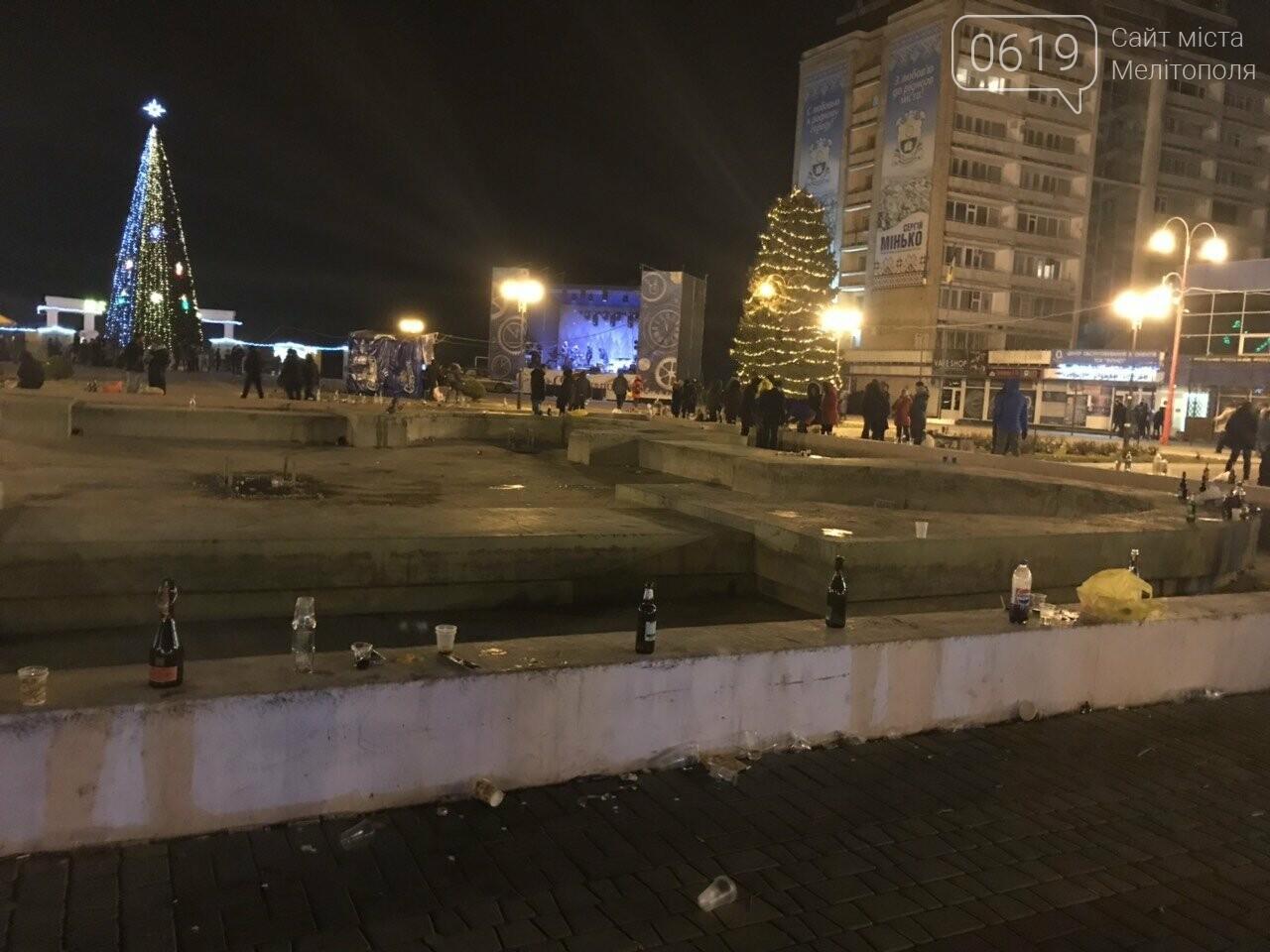 В новогоднюю ночь мелитопольцы превратили площадь в свалку, фото-6, Фото сайта 0619
