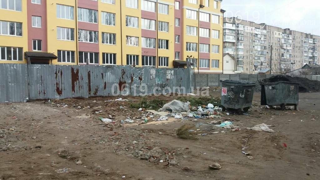 Мелитопольцы устроили  свалку возле мусорных баков, фото-1
