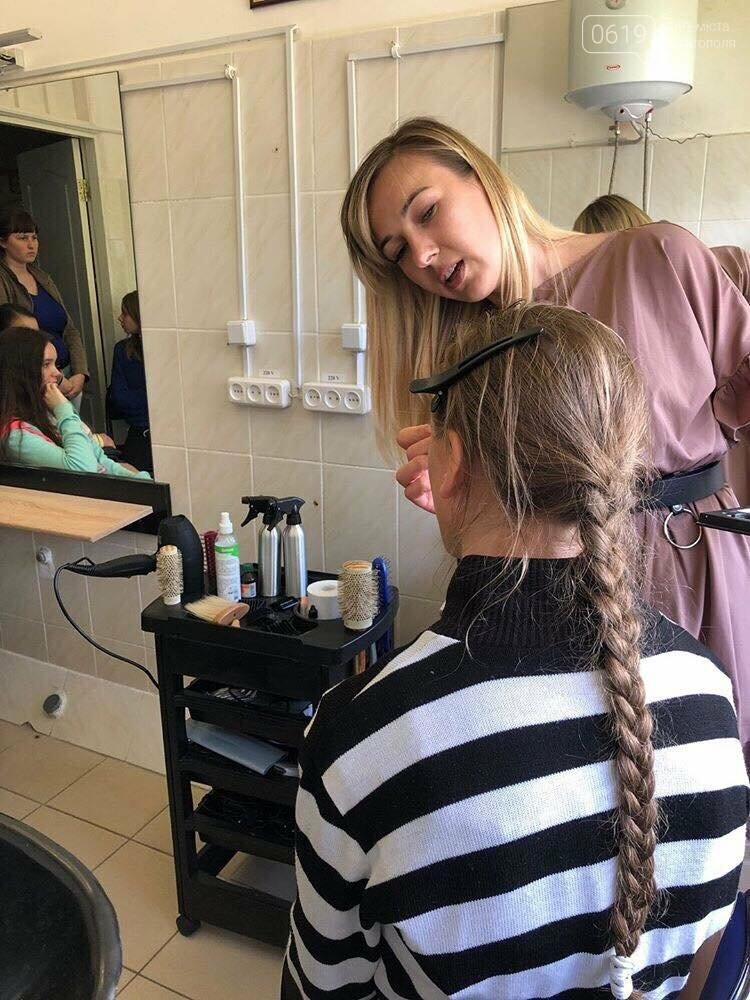 Воспитанницам Мелитопольской школы-интерната рассказали о профессии визажиста , фото-4
