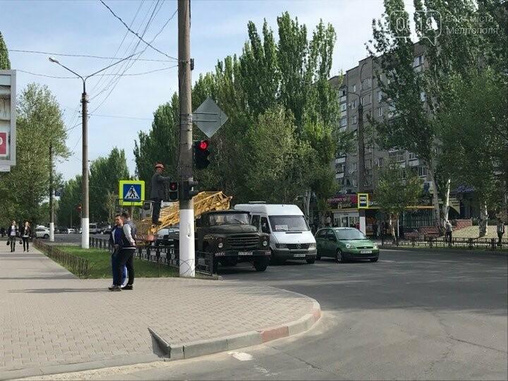 В Мелитополе красят светофоры, фото-2, Фото сайта 0619
