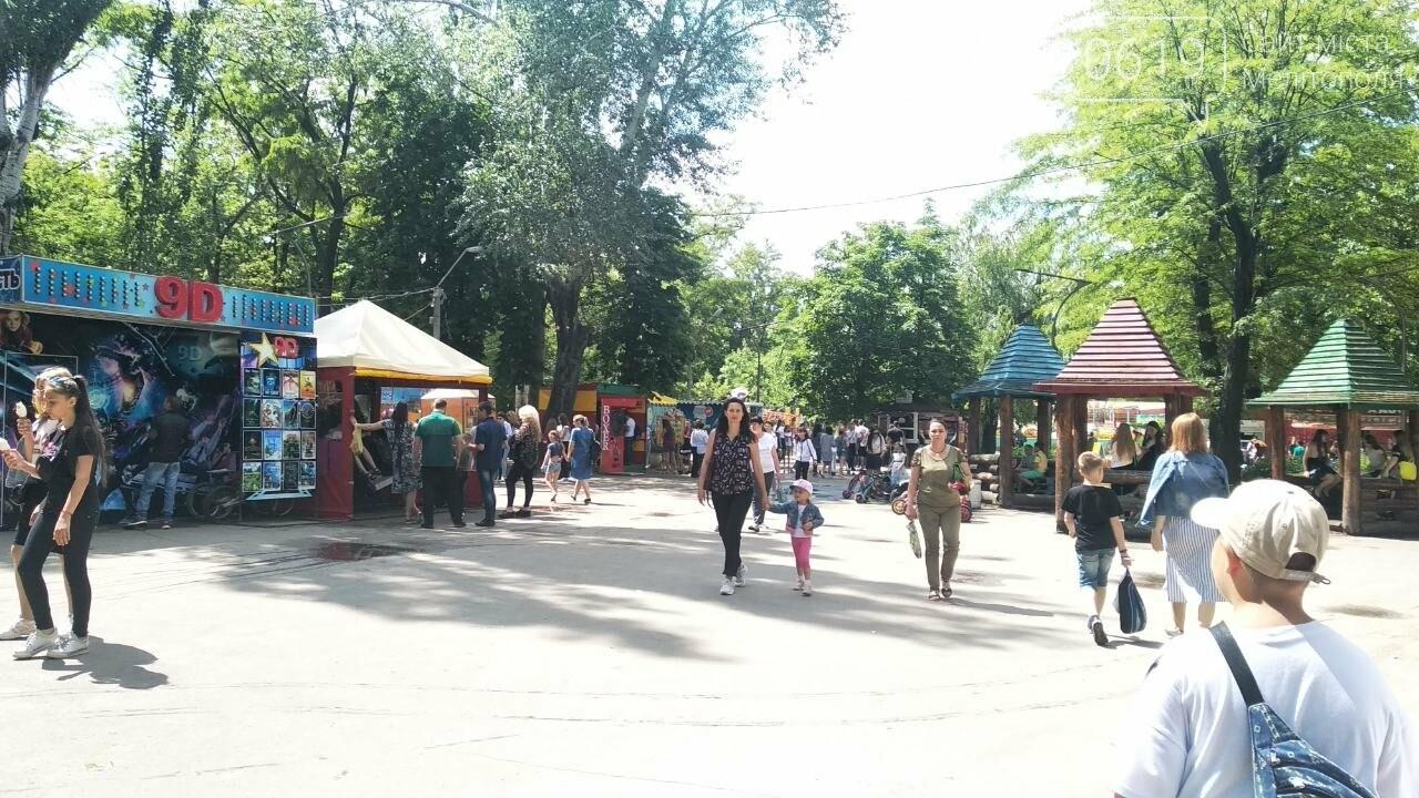 Мелитопольские школьники празднуют последний звонок в парке , фото-1