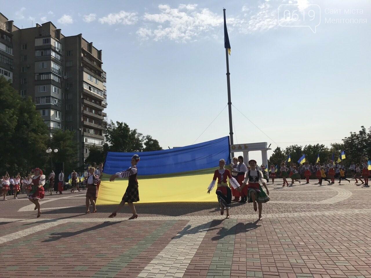 Мелитопольцы отметили День Государственного флага Украины, фото-14