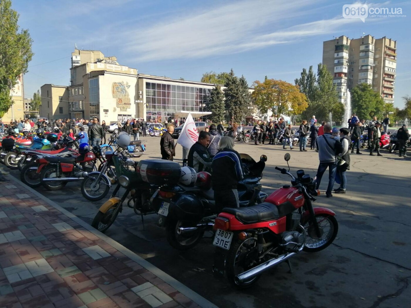 Байкеры проехали колонной по Мелитополю в честь закрытия мотосезона, - ФОТО, фото-3