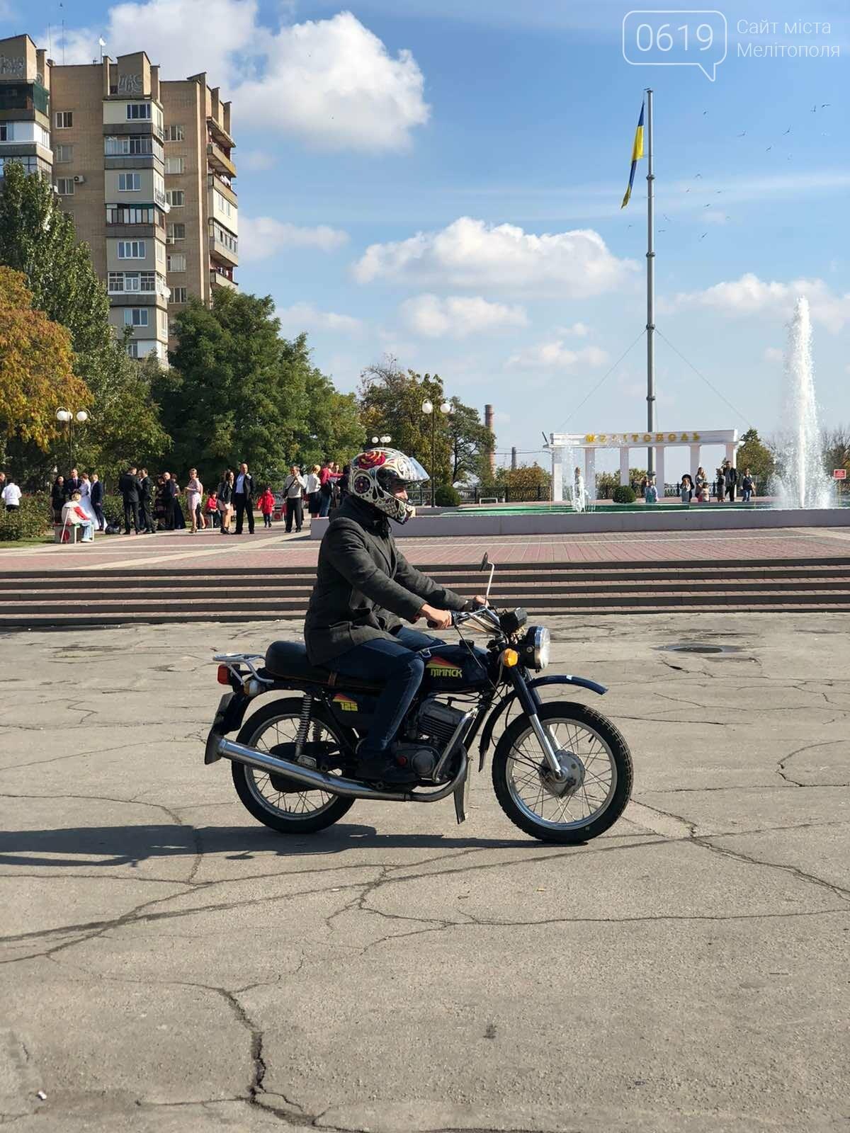 Байкеры проехали колонной по Мелитополю в честь закрытия мотосезона, - ФОТО, фото-8