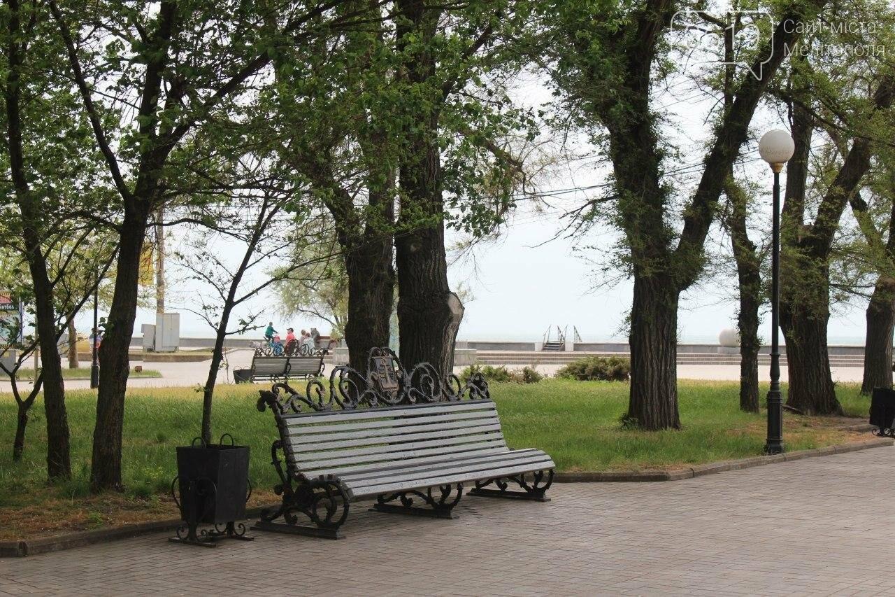 В Бердянске провели реставрацию скамей, фото-5