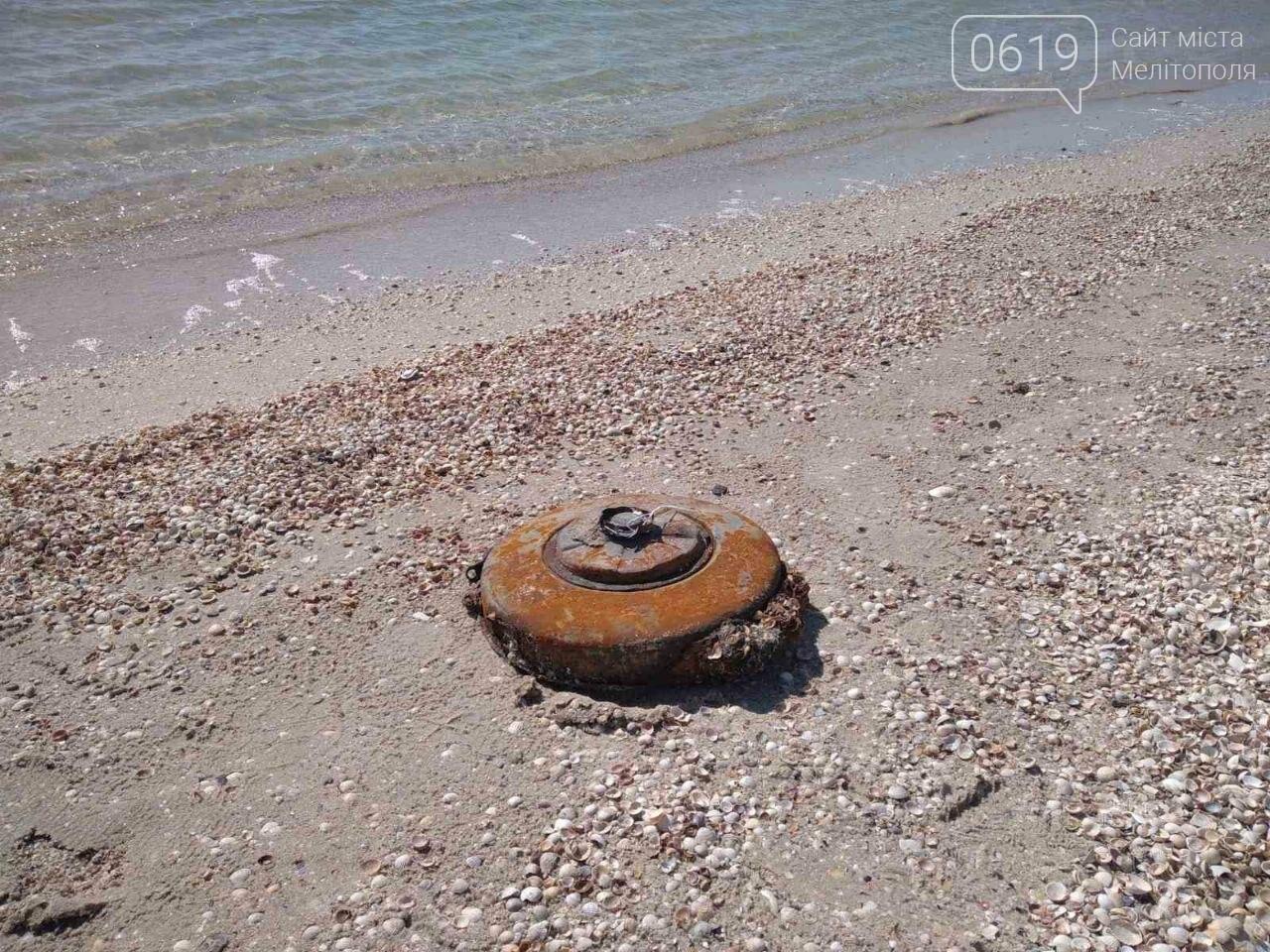 Спасатели обезвредили противотанковую мину, обнаруженную на берегу моря в Кирилловке, фото-1