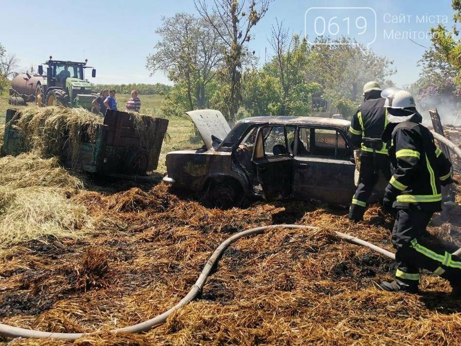 В Мелитопольском районе спасатели тушили автомобиль, фото-2