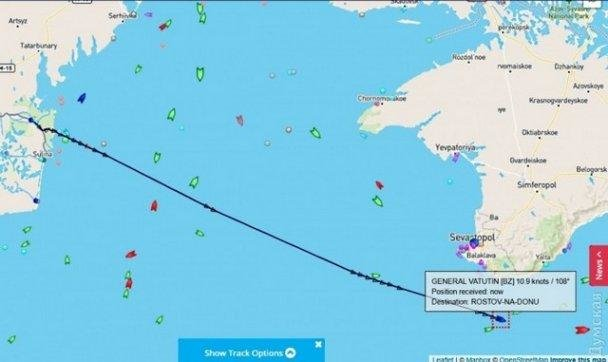 Украинский круизный лайнер вместо Одессы взял курс на Ростов, фото-1