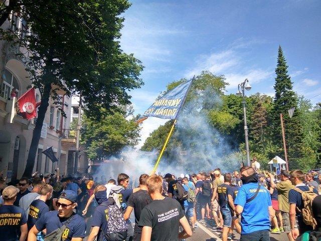 К митингу под стенами ВР присоединились запорожские медики, фото-4