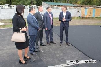 Глава Запорожской областной администрации побывал на главном стадионе города , фото-1, Фото