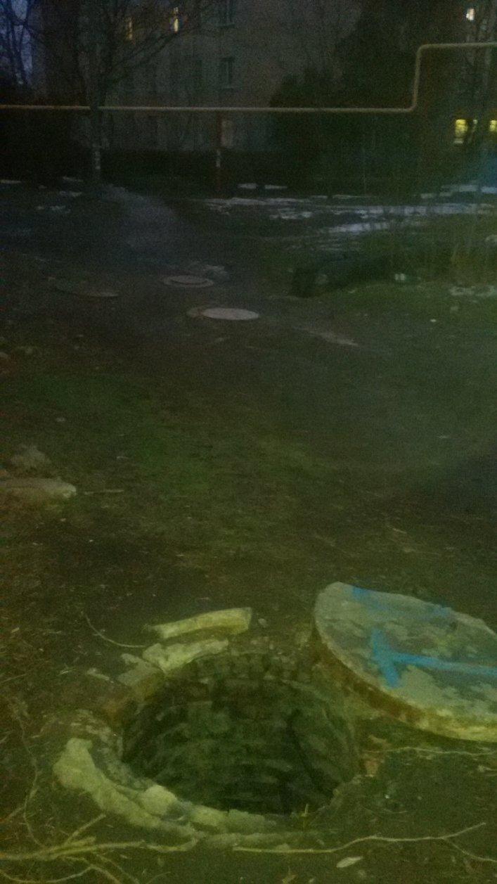 Мелитопольцы обнаружили в центре города очередной открытый люк, фото-1