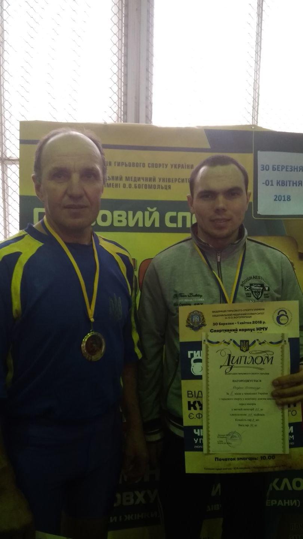 Студент и преподаватель ТГАТУ стали призерами Открытого кубка Украины по гиревому спорту, фото-1