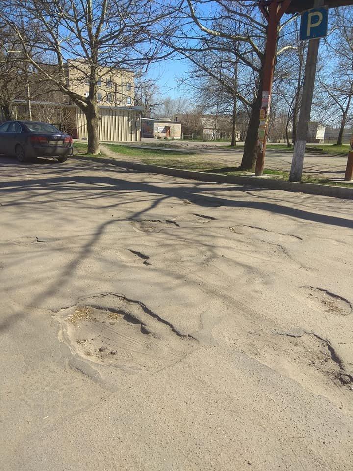 В Мелитополе пациенты жалуются на состояние дорог возле больницы , фото-3