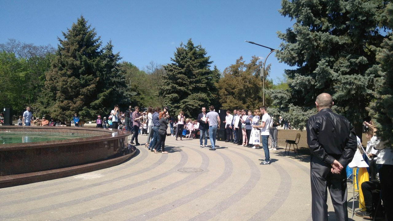 В мелитопольском парке состоялось торжественное открытие светомузыкального фонтана, фото-4