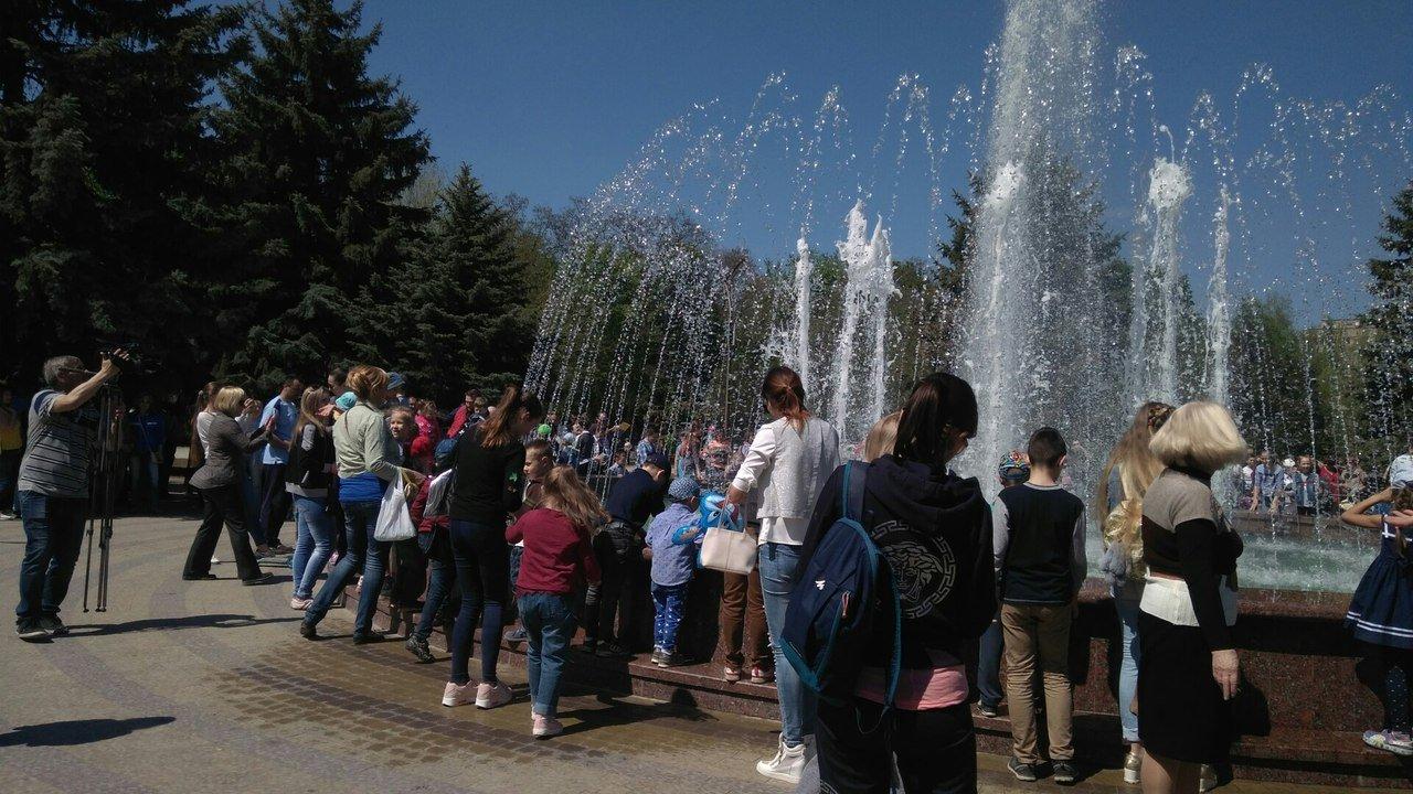 В мелитопольском парке состоялось торжественное открытие светомузыкального фонтана, фото-11
