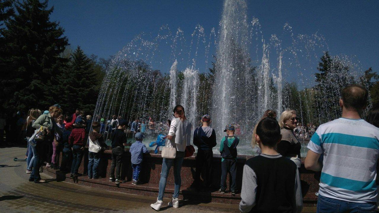 В мелитопольском парке состоялось торжественное открытие светомузыкального фонтана, фото-12