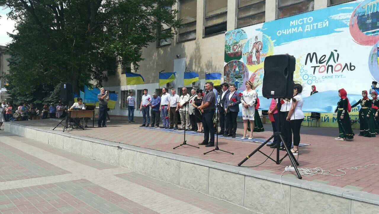 В Мелитополе проходит митинг ко Дню скорби и памяти жертв депортации крымскотатарского народа, фото-1