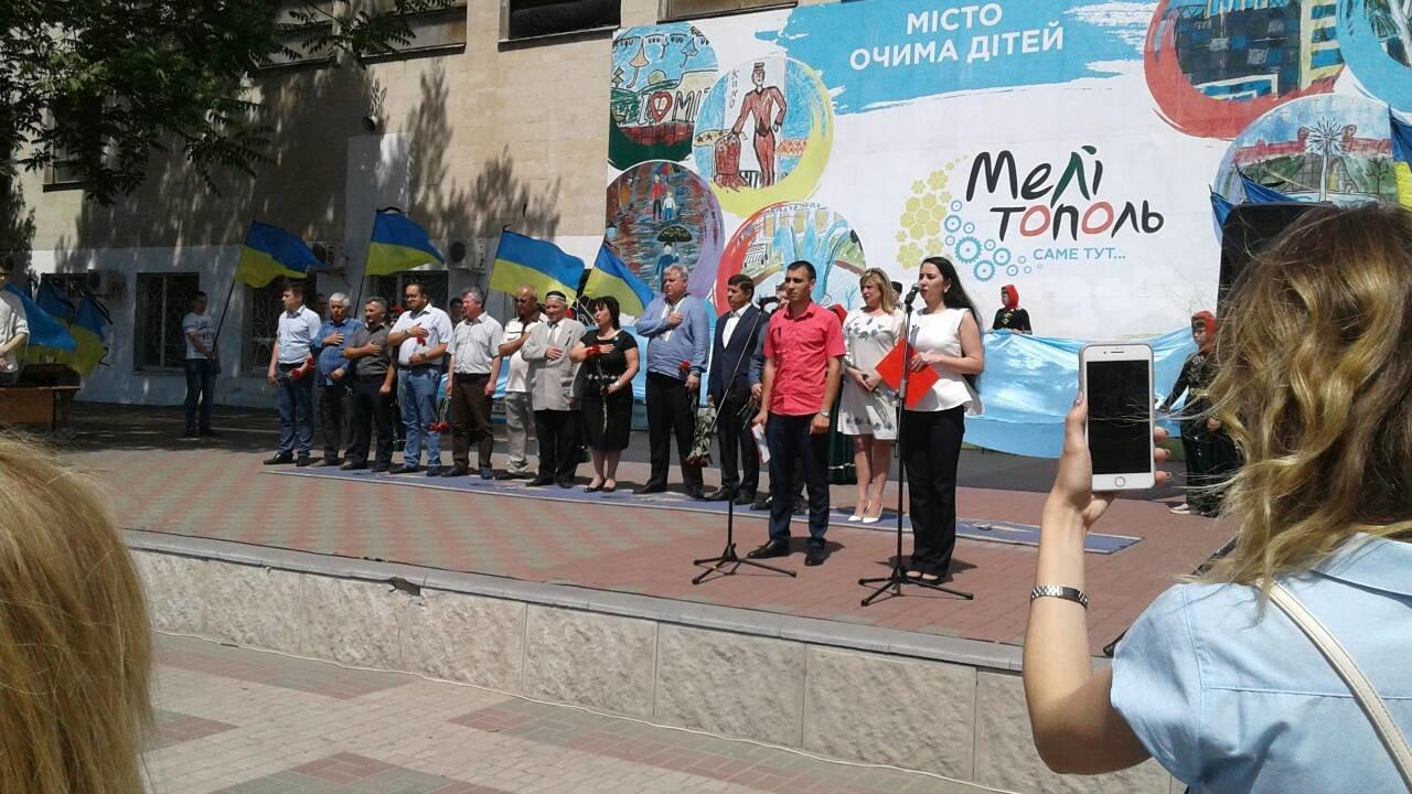 В Мелитополе проходит митинг ко Дню скорби и памяти жертв депортации крымскотатарского народа, фото-5