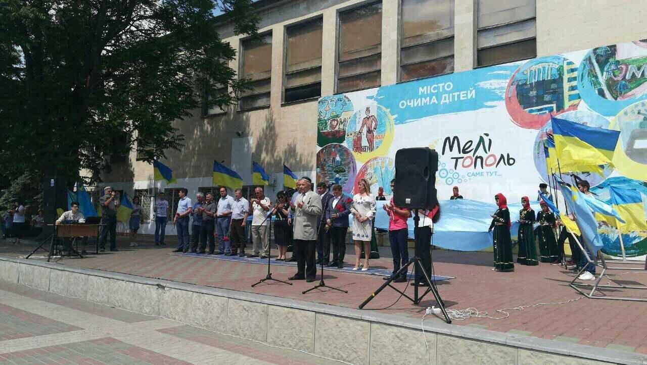 В Мелитополе проходит митинг ко Дню скорби и памяти жертв депортации крымскотатарского народа, фото-4