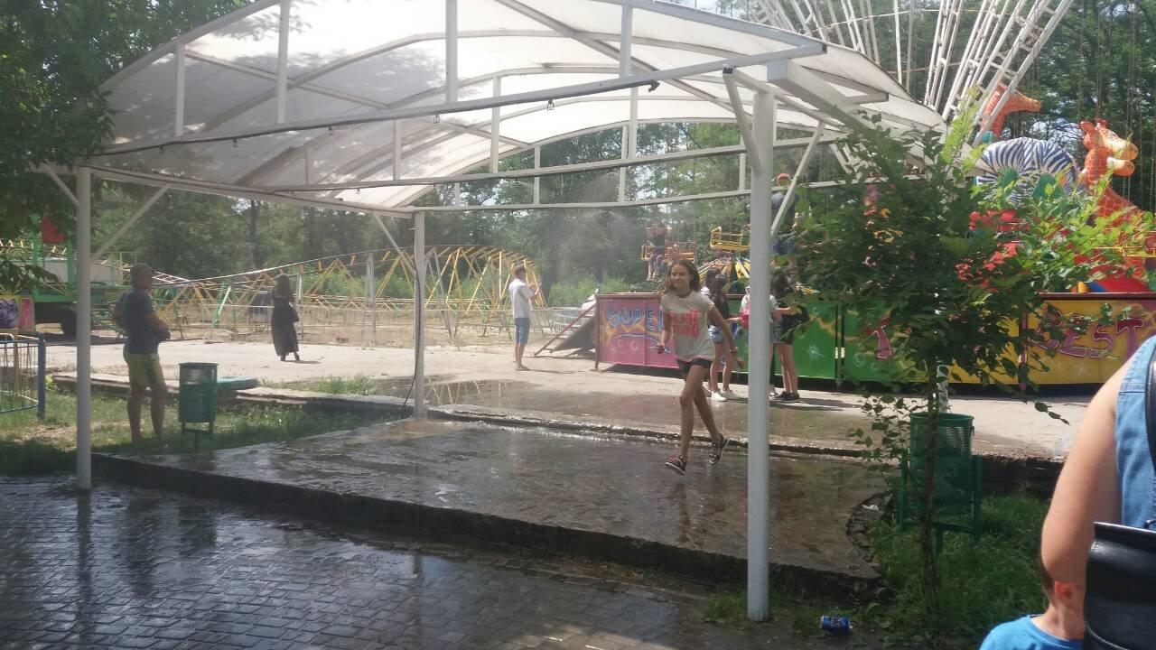 В мелитопольском парке заработала водная арка, фото-2