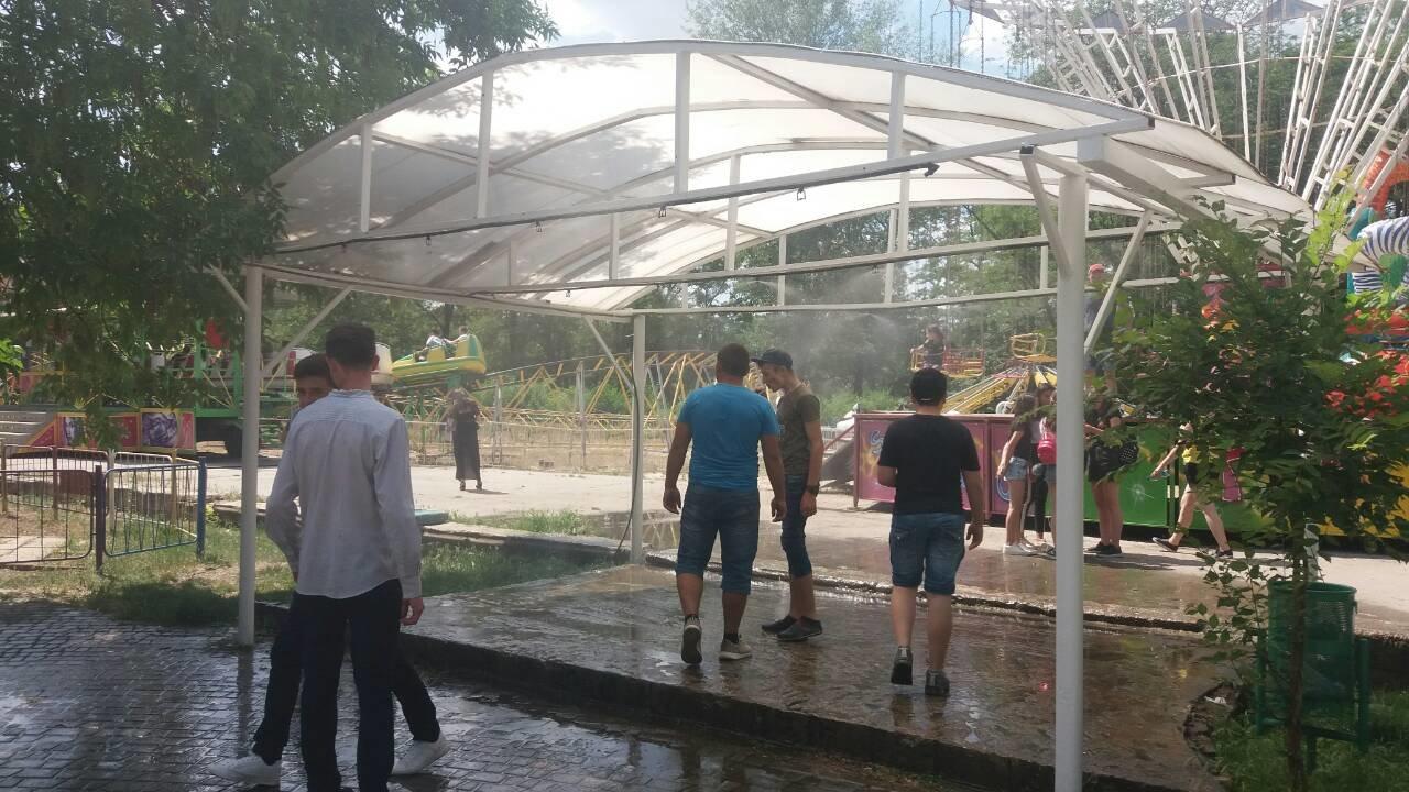 В мелитопольском парке заработала водная арка, фото-1