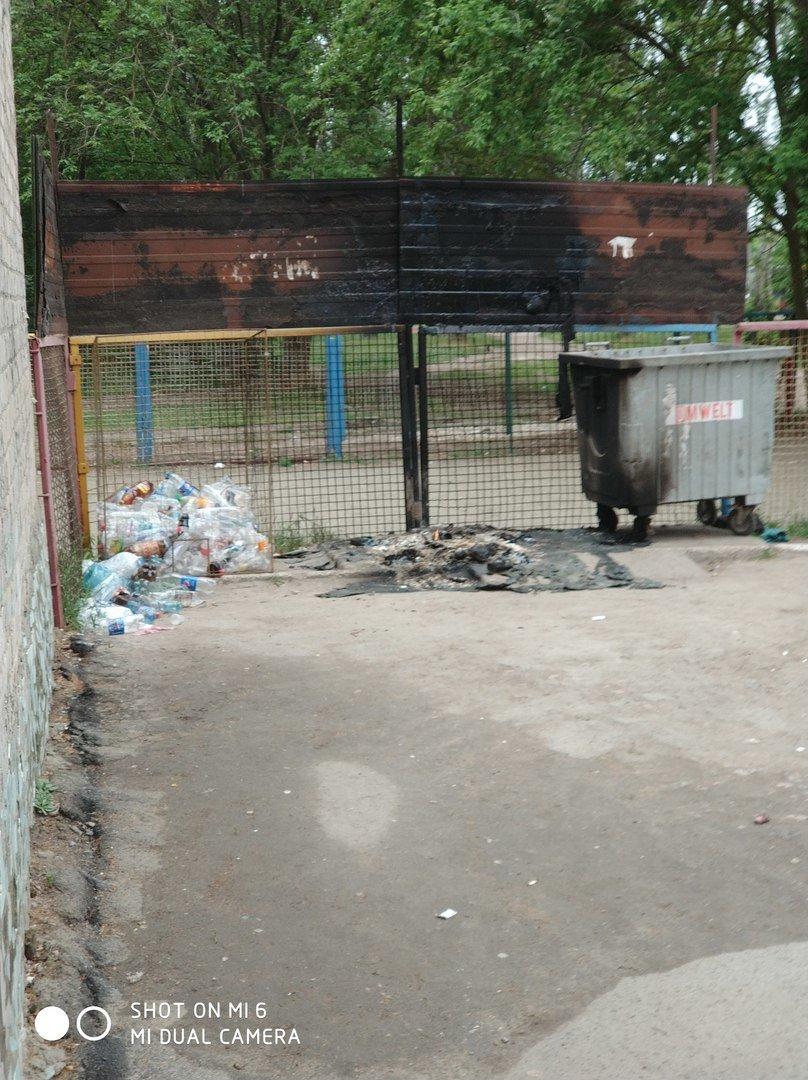В Мелитополе продолжают жечь мусорные баки, фото-1