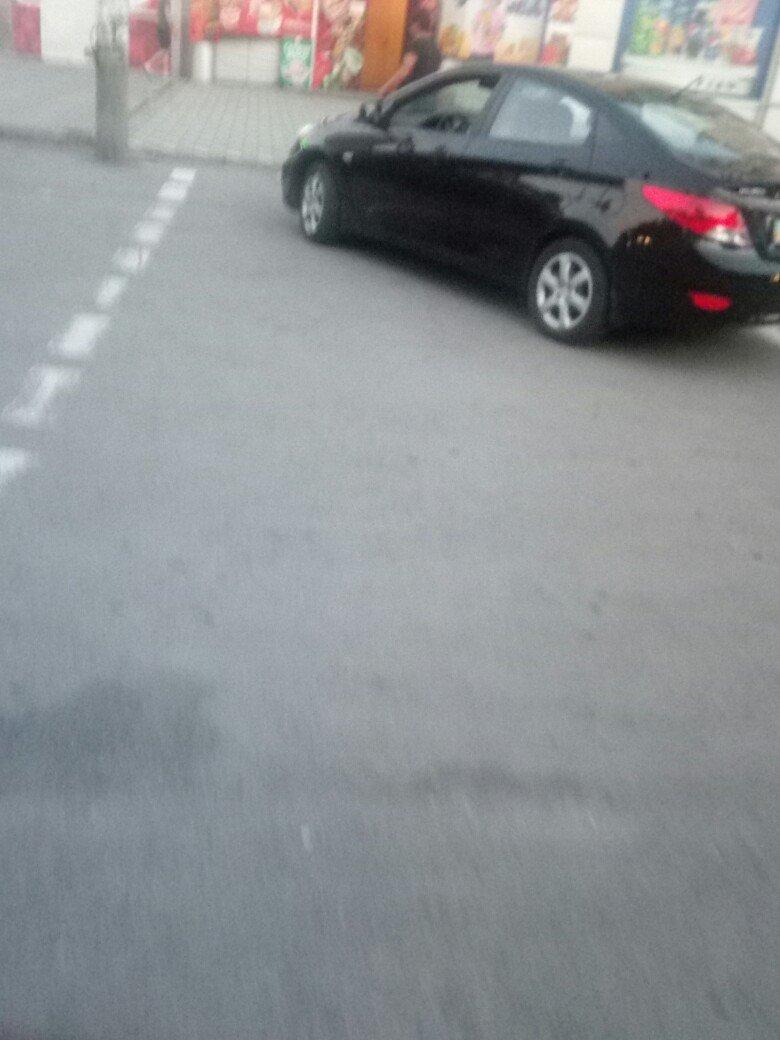 В Мелитополе на центральном проспекте был замечен очередной автохам, фото-1